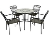 Europa Verde Patio Set with 4 Modena Chairs