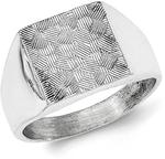 JewelryWeb Sterling Silver Polished Textured Ring - Ring Size: 9 to 11