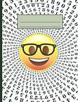 Emoji Nerd Math Number Spiral Composition Notebook: 200 Pages of Lined College Ruled Paper, 8