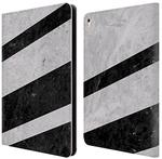 Official Nicklas Gustafsson White Striped Marble Textures 3 Leather Book Wallet Case Cover For Apple iPad Pro 9.7