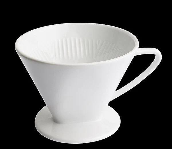 Cilio - Coffee Filter Cup - Porcelain Dishwasher Safe - White - Various Sizes - 1 Cup