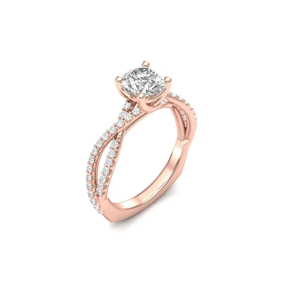 Twisted Shank Engagement Ring - UK T - US 9 5/8 - EU 61 1/2