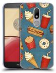Official Tracie Andrews Fast Food Patterns Soft Gel Case for Motorola Moto M