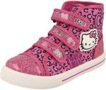 Girls Hello Kitty Norland Hi Top Canvas Trainer Pink UK 2